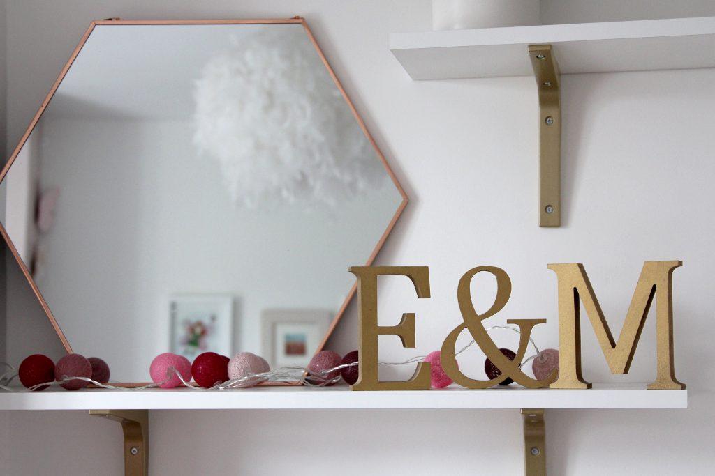 Shelf detail for reading nook for children