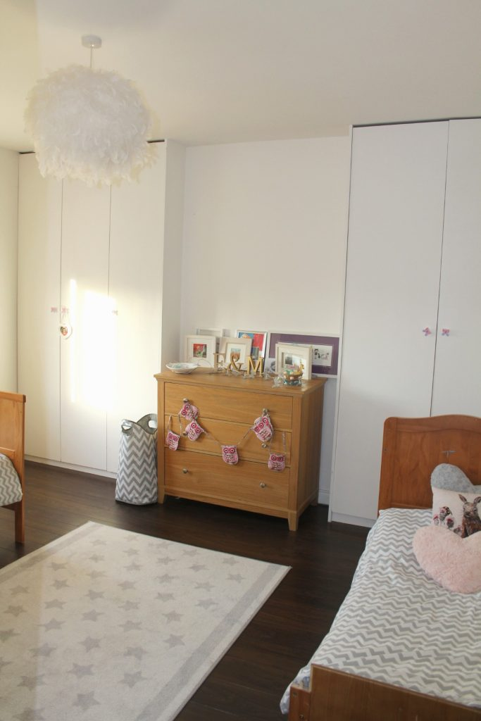 First incarnation of the room with chest of drawers in the alcove