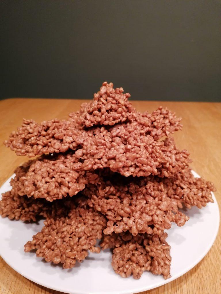 finished chocolate rice crispy tree