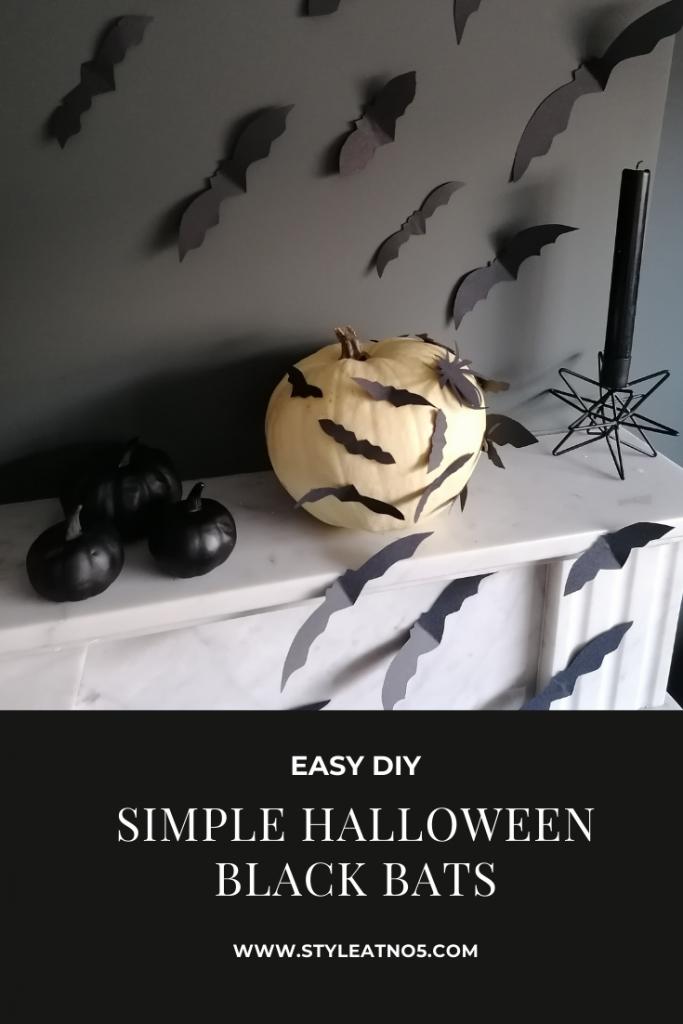 Pinterest link for Halloween black bats
