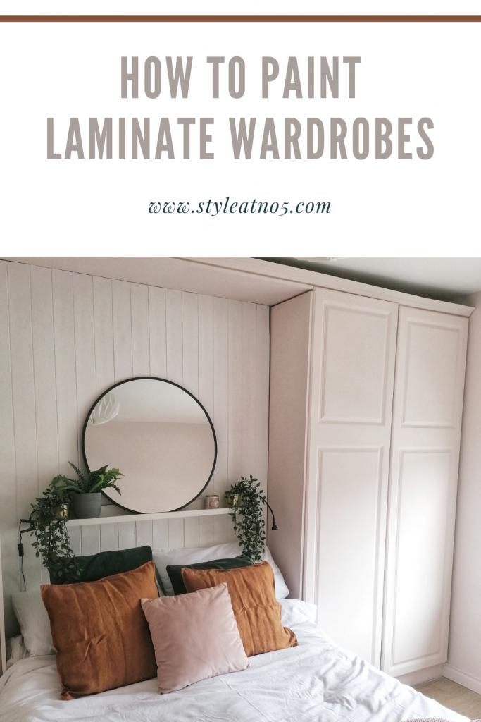 Pinterest pin for painting laminate wardrobes