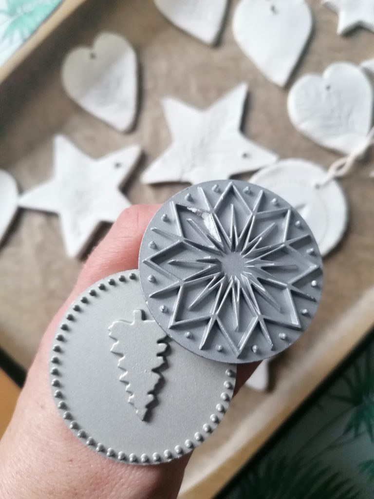 stampers for air dry clay decorations
