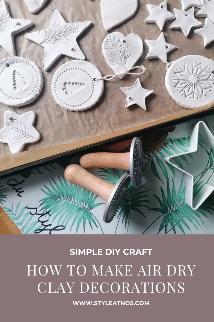 Canva image for pinterest for air dry clay decorations