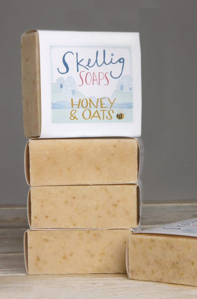 Skellig soap with honey and oats. A sustainable beauty swap