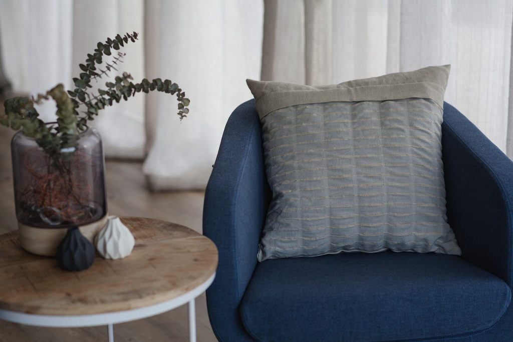 Irish linen cushion cover from Stoker Mills