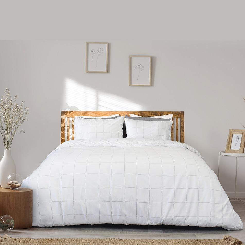 White bed linen from The Linen Bundle Ireland