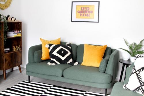 Made.com green sofa