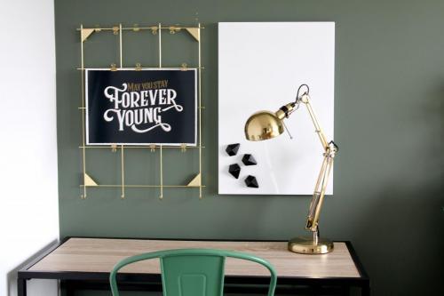 Valspar Puddle Jumper green paint, desk area