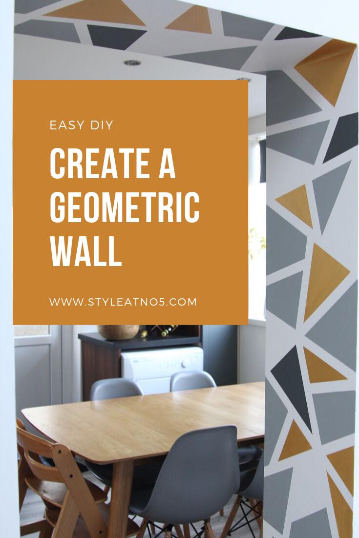 Pinterest pin for Geometric wall