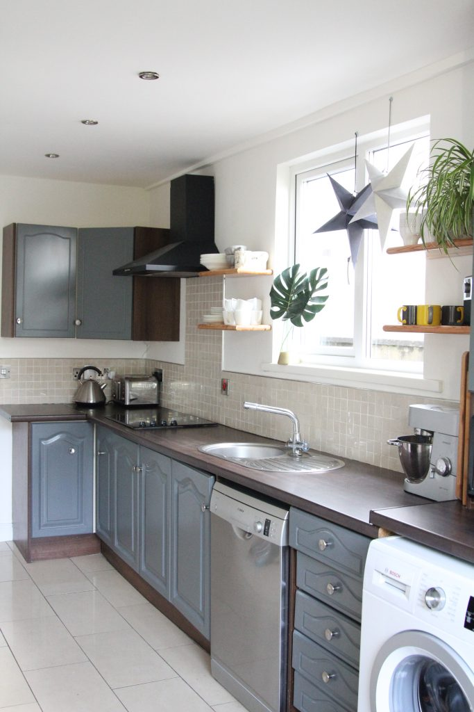 Style At No.5 Grey kitchen cupboards, painted and updated to refresh your home
