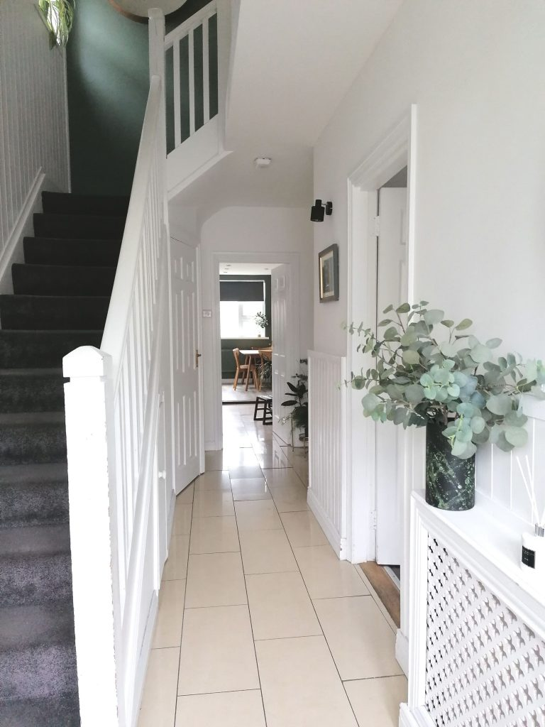 Style At No.5 White Hallway, refresh your home with plants and paint