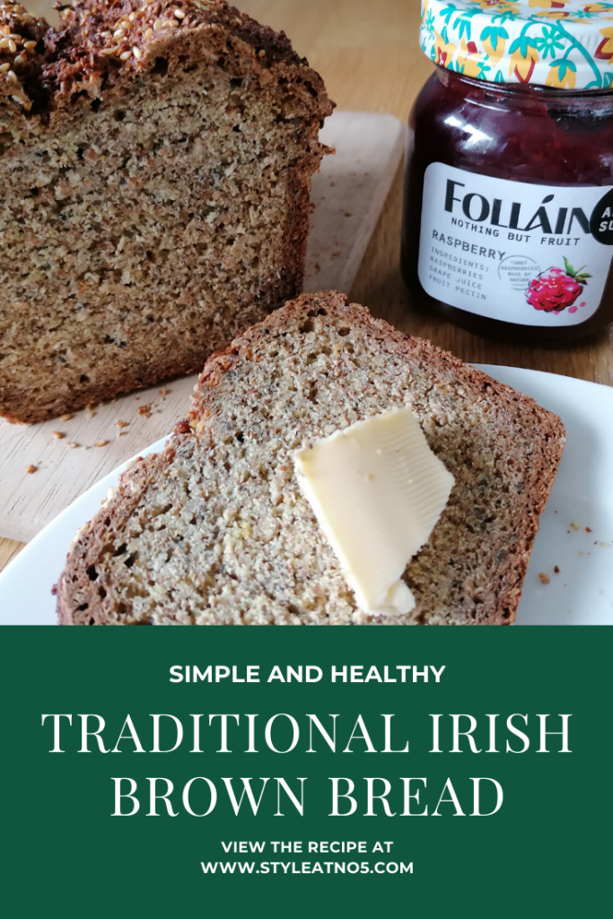 Pinterest pin for traditional Irish brown bread