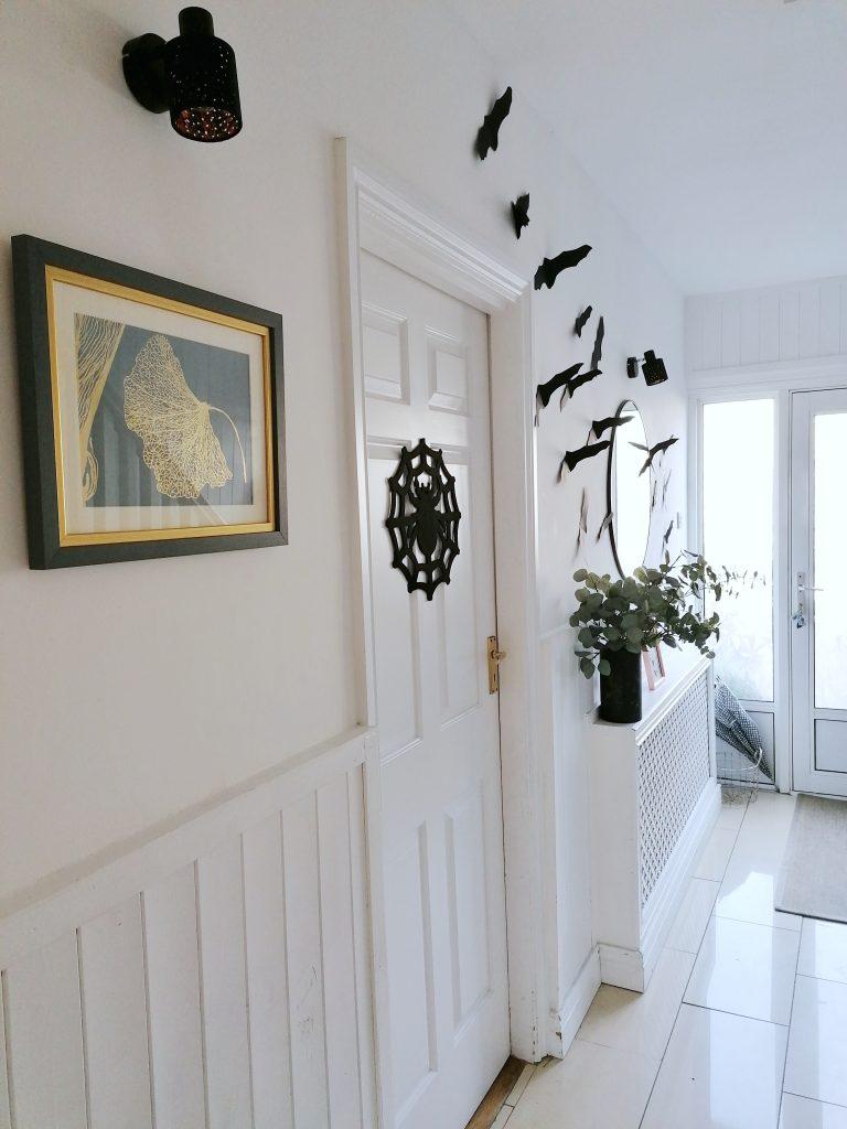 Halloween black bats in the Hallway