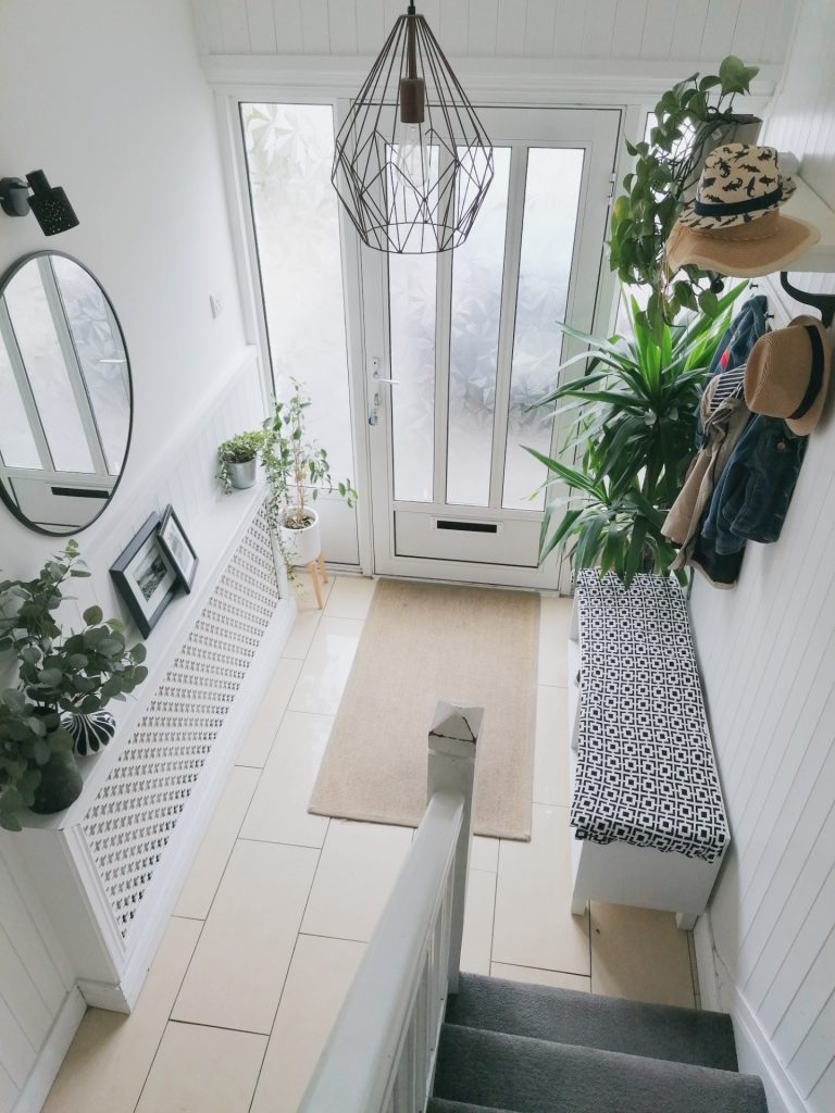 Style At No.5 Entryway white and coat holder.