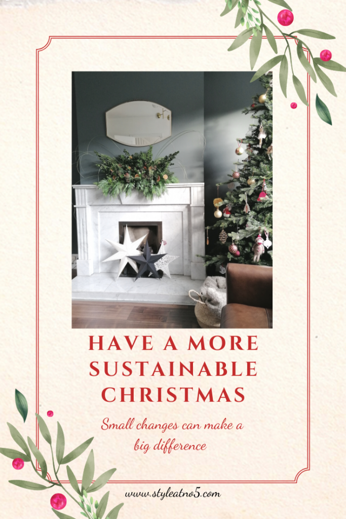 Pinterest graphic to have a more sustainable Christmas