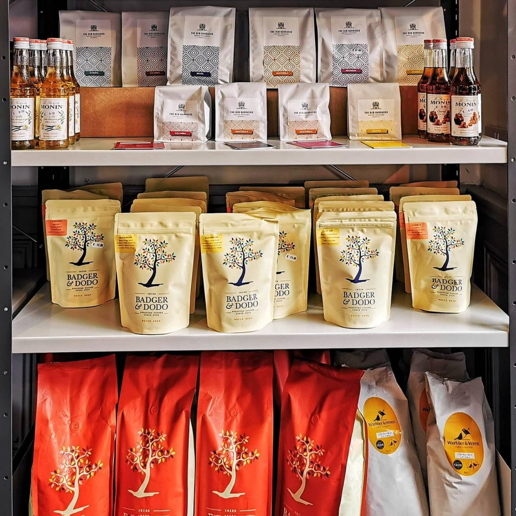 Habit Coffee image of coffee bags in their shop - Limerick Gift Guides