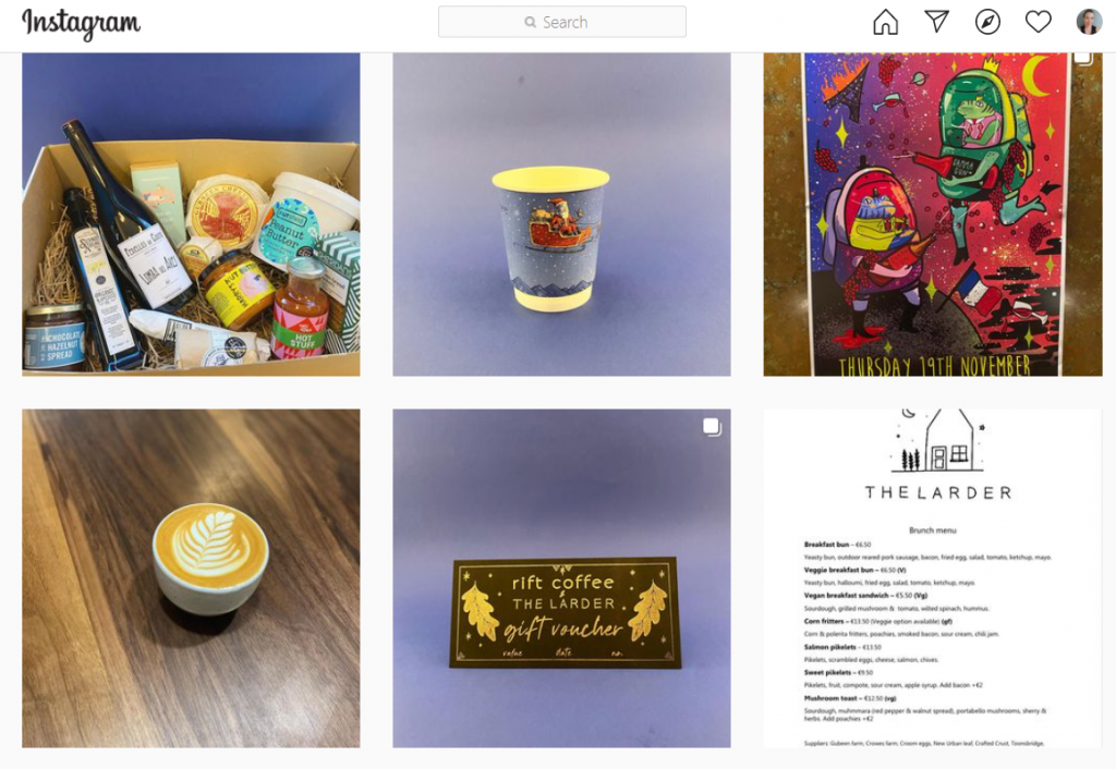 Rift Coffee instagram feed picture - Limerick Gift Guides