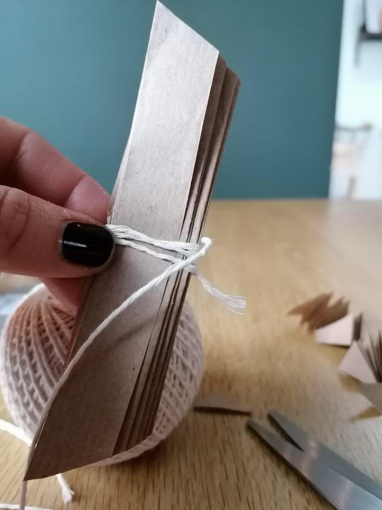 Paper cut on both edges