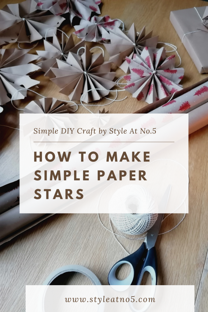 pinterest pin for how to make paper stars