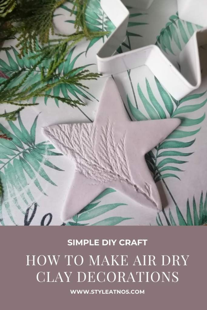 canva pin for blog post on air dry clay decorations