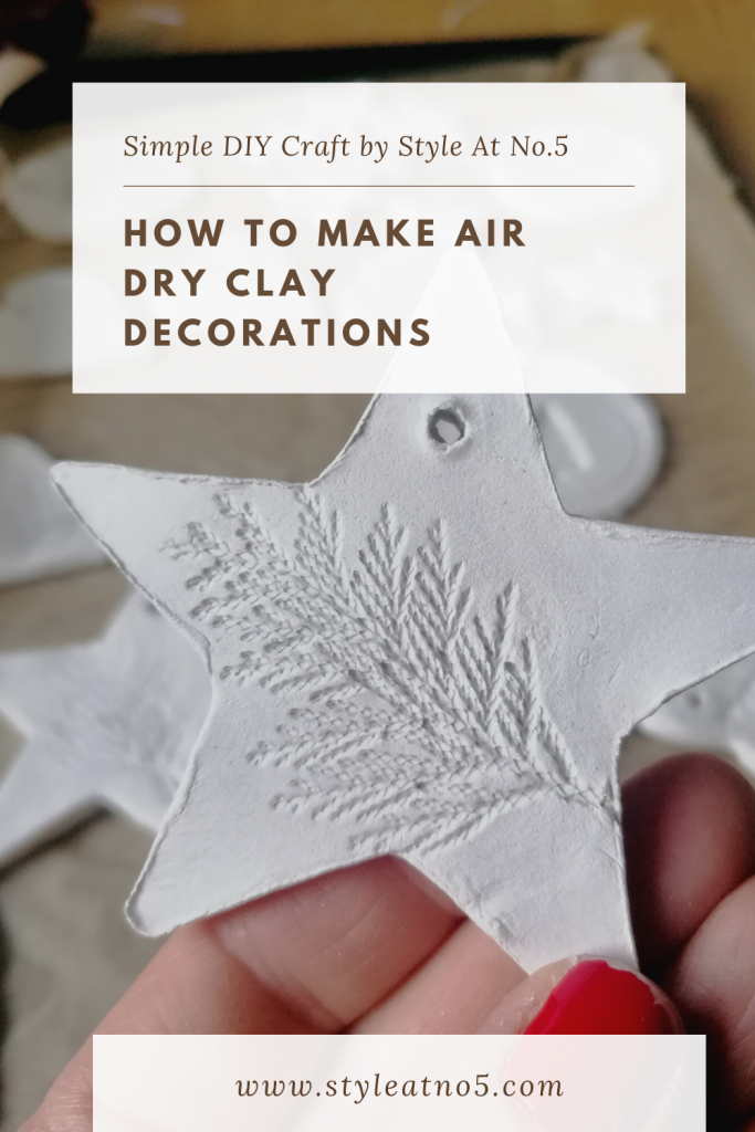 Canva image made for pinterest for this blog on air dry clay decorations