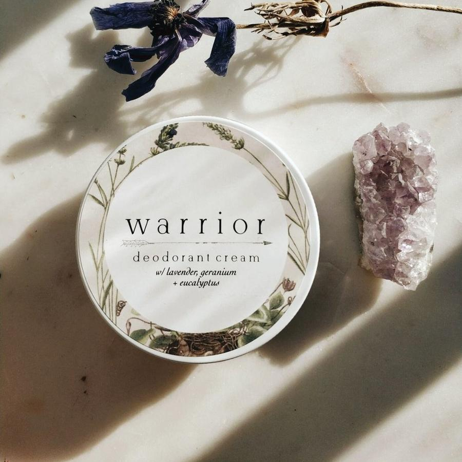 A natural deodorant cream from Warrior Botanicals
