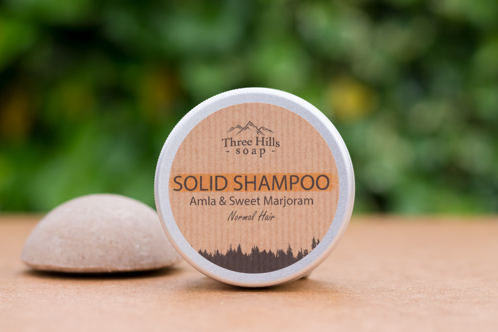 Solid Shampoo from Three Hills soap. A sustainable beauty swap