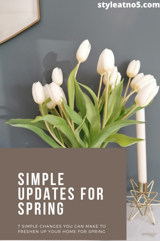 Pinterest graphic Spring Updates to your home