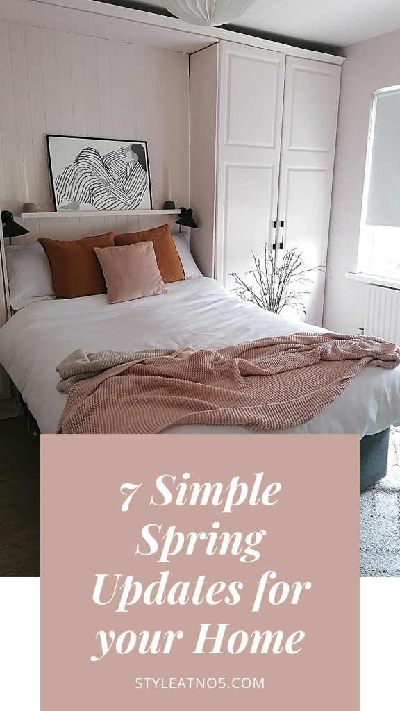 Update your home for Spring simple graphic for Pinterest