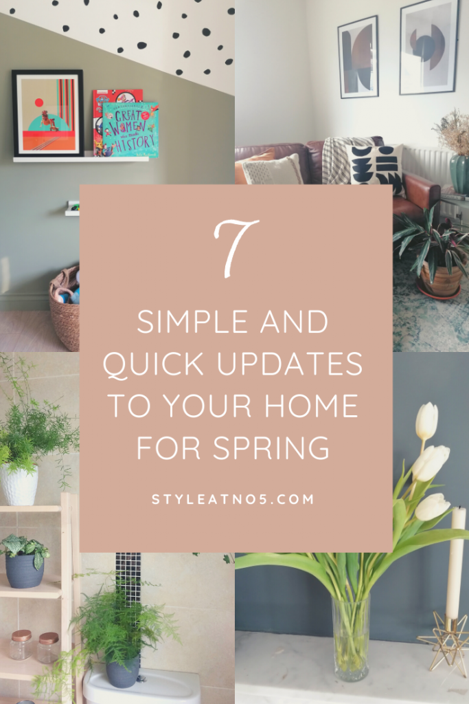 Spring Updates for your home Pinterest graphic