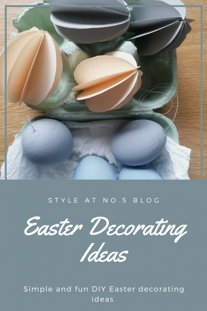 Easter decorations blog post Pinterest graphic