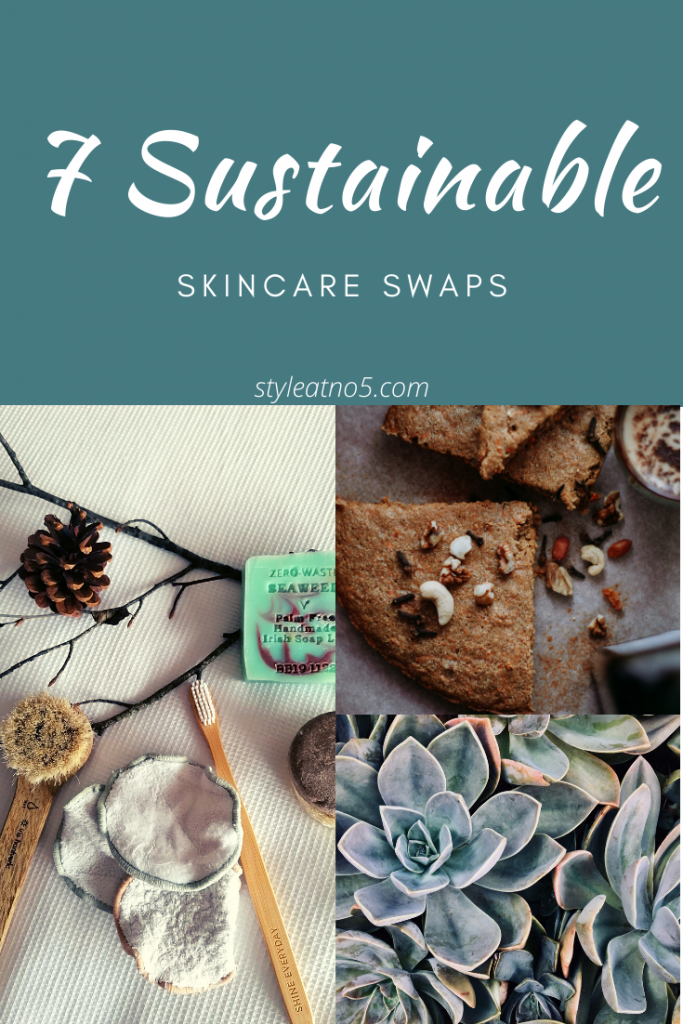 Sustainable Skincare Swaps Pinterest graphic