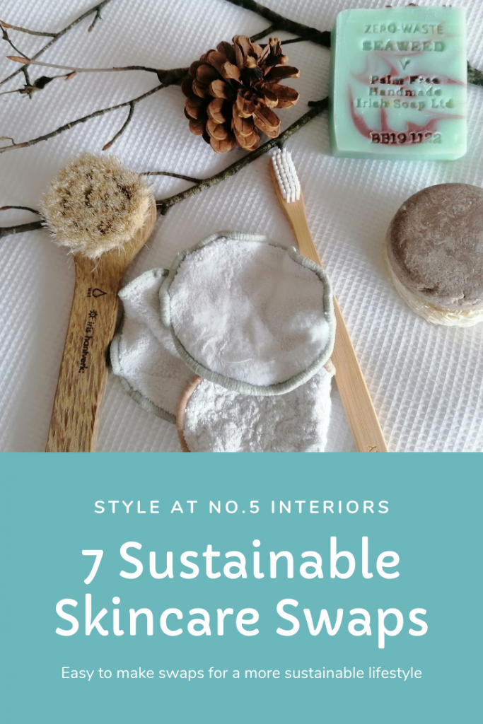 Sustainable Skincare Swaps from Style At No.5 Interiors Pinterest graphic