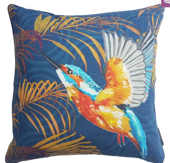 Bright cushion cover from Tru Tru Stories