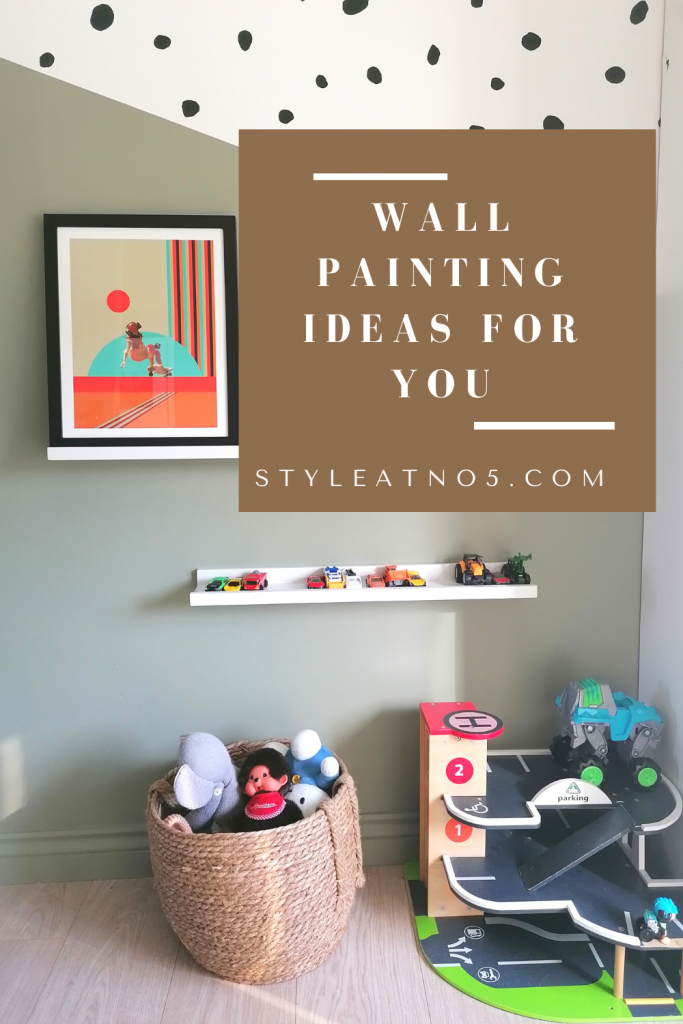 Pinterest Graphic for painting wall ideas for your home. Style At No.5